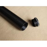 China Internal/outer screw thread  CNC 3k carbon fiber tube with accessory from China factory on sale