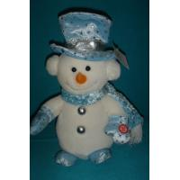 Quality Custom Design Personalised Christmas Gift Cute Musical Snowman Kid in Blue Clothing wholesale