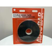 China Black EVA Foam Tape / Pvc Foam Tape Single Sided 1/8 Thick X 1/4 X 75 Ft on sale
