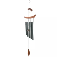 Quality Retro Style Length 100cm Metal Wind Chime , 5 Rod Wind Chime Optional Color wholesale