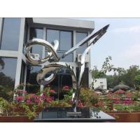 Quality Outdoor Abstract Small Garden Sculptures , Modern Stainless Steel Sculpture wholesale