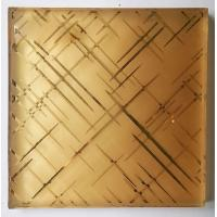 Quality 7MM Clear Security Laminated Art Glass Grid Pattern Wired Mesh Embedded wholesale