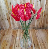 China artificial faux high simulation home decor lifelike good quality anthurium flower on sale