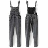 Quality High quality black washed skinny denim overalls dungarees women wholesale