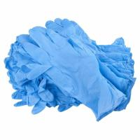 China Blue Color Disposable Hand Gloves , Durable Nitrile Exam Gloves Powder Free on sale