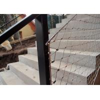 China Decorative Ferrule Flexible Stainless Steel Wire Rope Mesh Fence For Stair Railing on sale