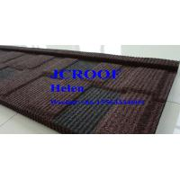 Quality Customized Color Stone Coated Roof Tile 0.4mm Red Black Shingle , Metal Roof Shingles wholesale