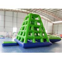 China Aqua Sports Inflatable Water Tower Floating Water Climbing Slide For Sea on sale