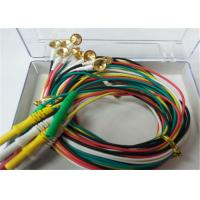 Quality 1.5m TPU EEG Cables With Gold Plating Copper Electrodes 2.0mm Connector wholesale