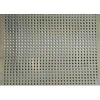 Quality Square Hole Perforated Stainless Steel Plate , Length 1m Perforated Mesh Sheet wholesale