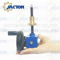 China Easy to use JTC5 5kn Small Worm Gear 100mm Traveling DC Mini Motorized Screw Jack on sale