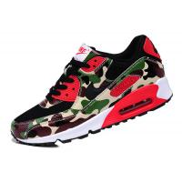 Quality Sell authentic Nike AIR MAX 90 couples running shoes Camouflage green men's women's shoes wholesale