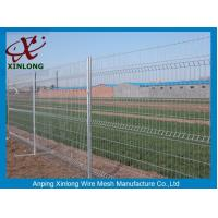 China 3D Curved Green Pvc Coated Wire Mesh Fencing For Highway Sport Field Garden on sale