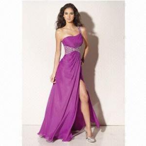 Quality 2012 One-Shoulder Chiffon Evening Dress wholesale