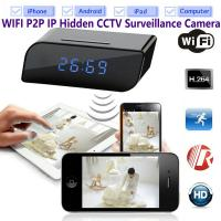T8S 720P Alarm Clock WIFI P2P IP Spy Hidden Camera Home Security CCTV Surveillance DVR with Android/iOS App Control