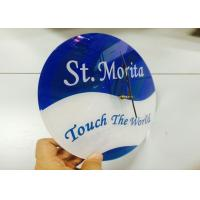 Quality Large Round Custom Logo Clocks Ultra Thin Personalized Promotional Gifts wholesale