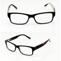 Quality Lightweight Black Classic Acetate Mens Eyeglasses Frames For Promotion wholesale