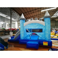 China Factory Cheap Price Kids Frozen Theme Jumping Bounce Castle With Pool Slide Rental Wholesale on sale