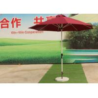 Quality 3.0 M Red Big Outdoor Umbrella , Round Patio Umbrella Parasol For Garden wholesale