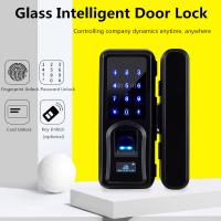 China Zinc Alloy Glass Door Lock , Automatic Intelligent Fingerprint Recognition Lock on sale