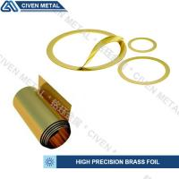 Quality precision brass foil used for laminated shims/wide range of thickness:0.01-0.1mm/bright golden yellow/can be customized wholesale