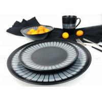Quality Home Use Ceramic Dinnerware Sets Fashionable Hand Painted Black Color wholesale