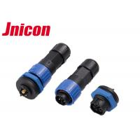 Quality High Performance Industrial Power Connectors 3 Pin Fire Safety Push Locking wholesale