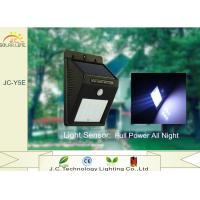 Quality Black Wireless IP65 Solar Powered Outdoor Wall Mounted Lights Rechargeable wholesale