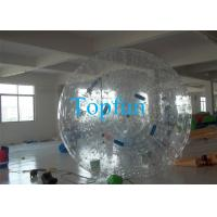 Quality 0.8mm / 1.0mm PVC Inflatable Zorb Ball With Zorbing Ramp For Funny Rolling wholesale
