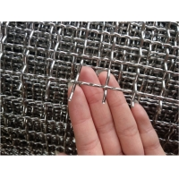 0.08inch Mining Screen Mesh 316L Stainless Steel Crimped Wire Mesh for sale