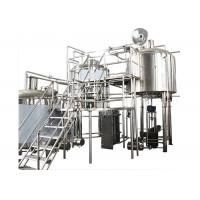 Quality 200 Gallon Stainless Steel Commercial Beer Making Equipment With Hot Liquor Tank wholesale
