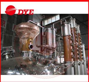 Quality 500L Copper Distiller Apparatus , Industrial Alcohol Distillation Equipment wholesale