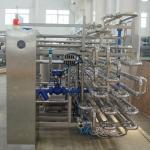 Quality PLC Control Dairy Processing Plant 2000LPH UHT Aseptic Tubular Sterilizer 1 Year Warranty wholesale