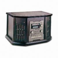 Quality Nostalgic Wooden Music Center with 42W Power Consumption and Auto-return Phonograph Arm wholesale