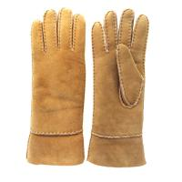 Quality Fashion Ladies Sheepskin Gloves , Ladies Real Leather Gloves Plain Style wholesale