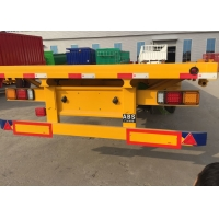 Quality 30 Ton Loading Three Axle Flatbed Trailer Carrying Bulk Cargo wholesale