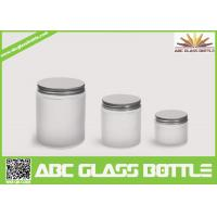 Quality Hiqh quality 200ml,300ml ,500ml white glass jar with screw cap wholesale