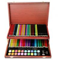 Quality Children Art Set, 91 pieces in a nice elegant wood box wholesale