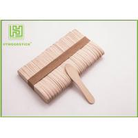 Quality Large Ice Cream Popsicle Sticks , 75mm Jumbo Paddle Pop Sticks Non - Waxed wholesale