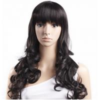 Quality Black Body Wave High Temperature Fiber Wig For Women Extra Long wholesale