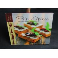 Quality Publishing 2 Color Cook Book Printing With CMYK / Pantone Color thick cardboard wholesale