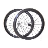 Quality 23MM Width Carbon Wheels With Aluminum Brake Track,  V Shape Alloy Clincher Wheelset wholesale