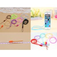 Quality Multi-Function  6mm Silicone Soft PVC Double Color Mobile Phone Lanyard, PVC Cellphone Lanyard wholesale