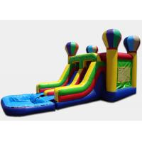 China Custom Design Air Balloon Double Water Slide With Water Slide And Pool on sale
