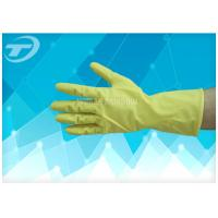 China 100% Natural Latex Household Gloves With Dipped Flocklined Washing Rubber Gloves on sale