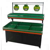 China Single-Side Two Tier Fresh Fruit And Vegetable Display Rack For Supermarket on sale