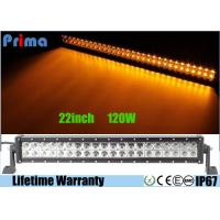 Quality Dual Row 22 Inch Remote Control LED Light Bar Amber White Flash 120W Power wholesale