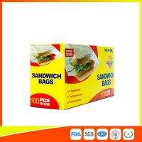 Food Grade Plastic Clear Recyclable Sandwich Bags , Reusable Bag With Zipper