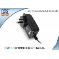 Quality AC DC Wall Plug Adapter 12V 2A / Wall Mount Power Supply Black Color wholesale