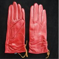 Quality Leather Womens Waterproof Gloves , Sheepskin Womens Leather Dress Gloves wholesale